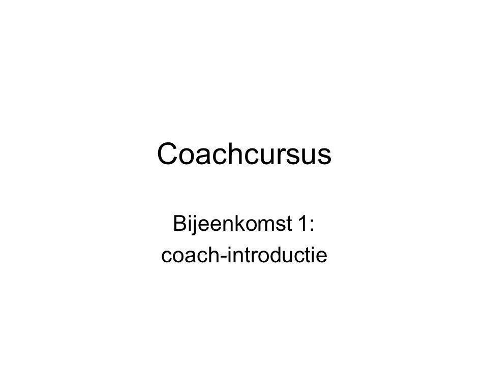 Bijeenkomst 1: coach-introductie