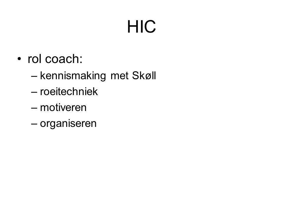 HIC rol coach: kennismaking met Skøll roeitechniek motiveren