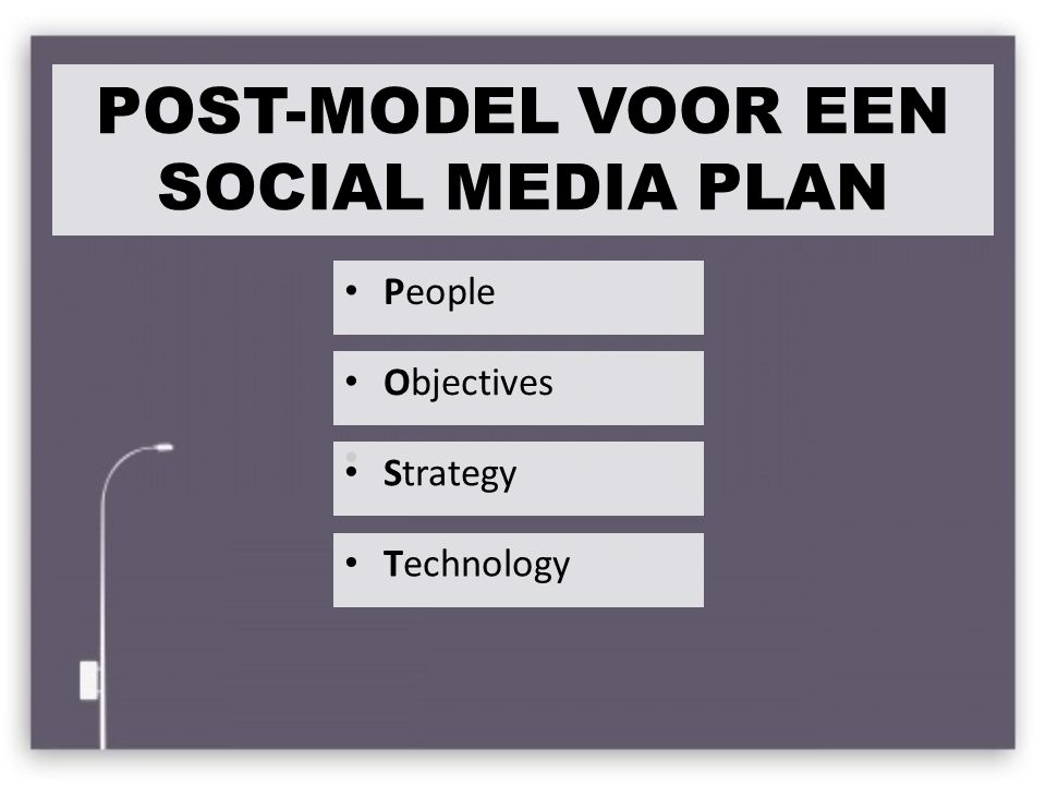 POST-MODEL VOOR EEN SOCIAL MEDIA PLAN