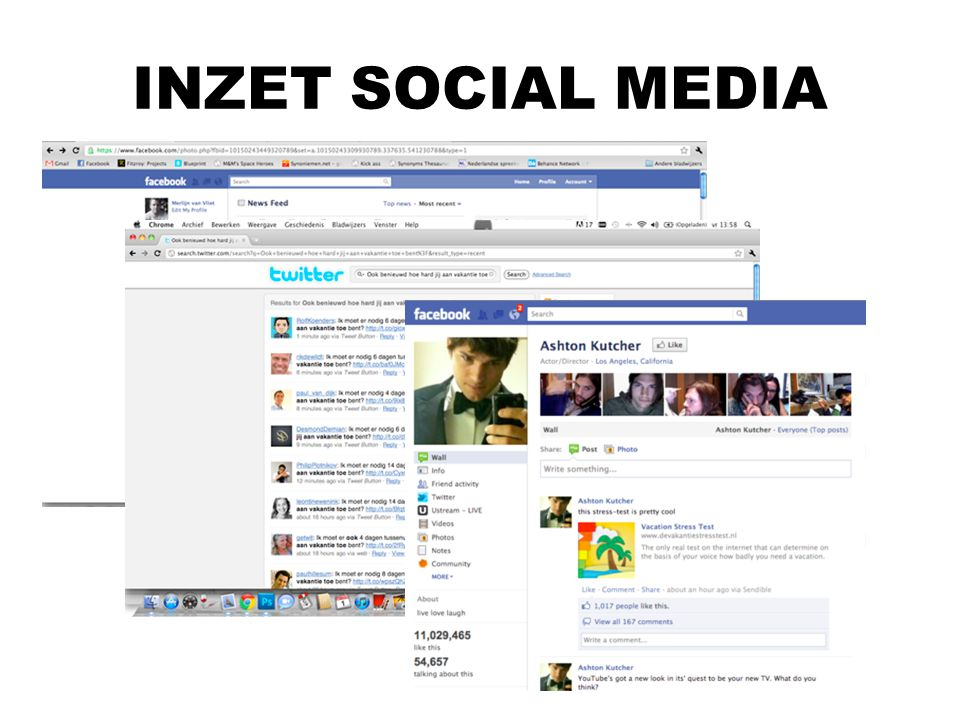 INZET SOCIAL MEDIA Vergelijken met de restvan Nederland De uitslag van de test kun je delen met je vrienden op Facebook, Hyves en Twitter.