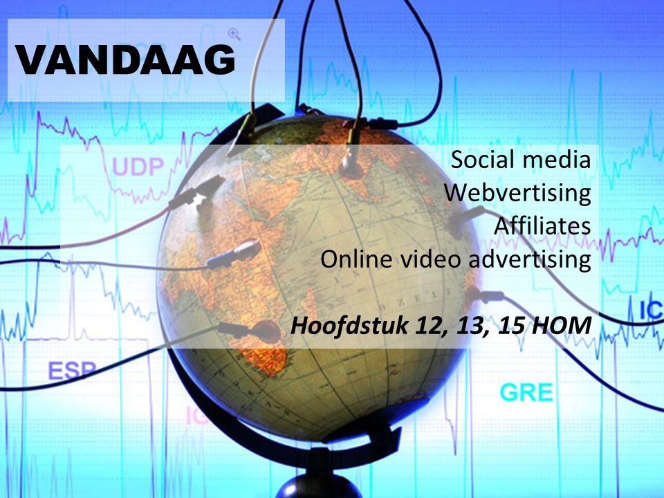 VANDAAG Social media Webvertising Affiliates Online video advertising