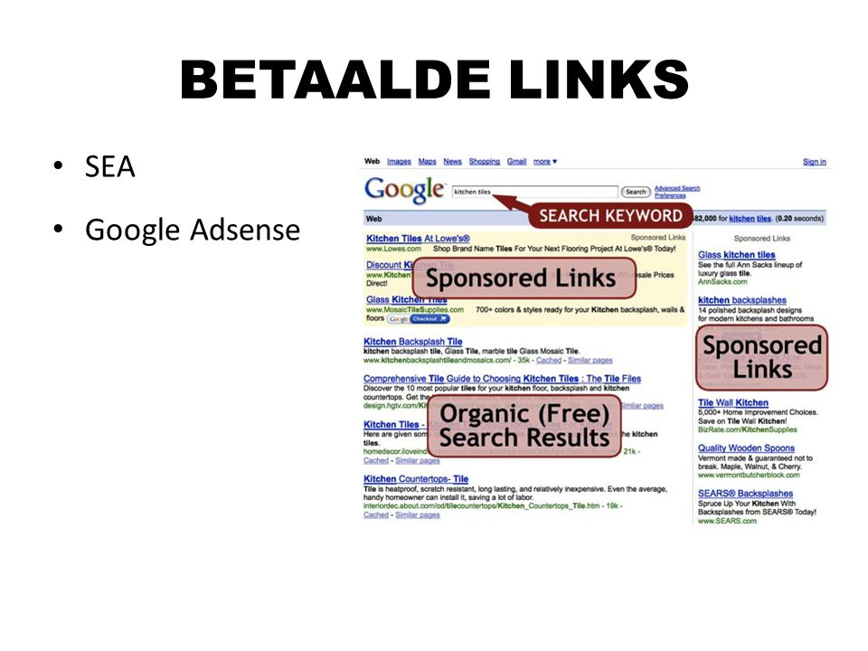 BETAALDE LINKS SEA Google Adsense