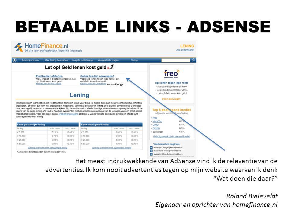 BETAALDE LINKS - ADSENSE