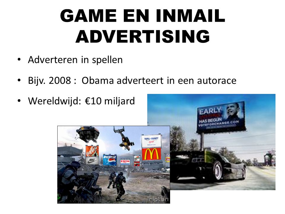GAME EN INMAIL ADVERTISING