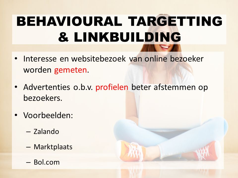BEHAVIOURAL TARGETTING & LINKBUILDING