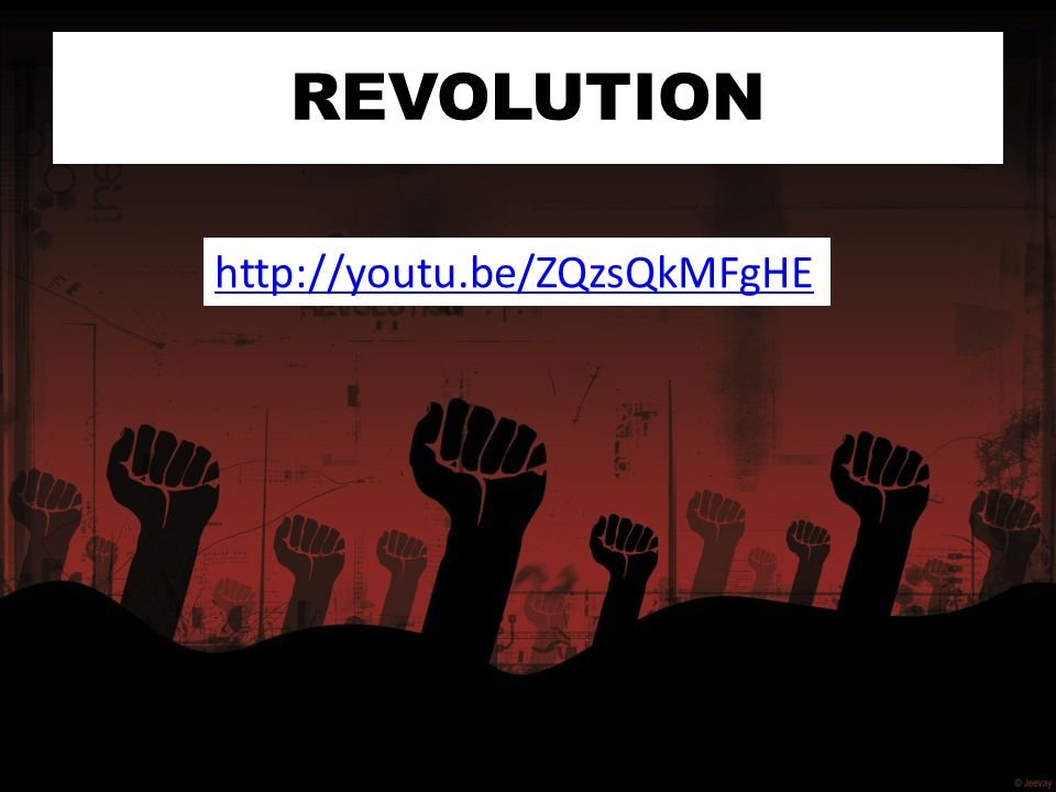 REVOLUTION http://youtu.be/ZQzsQkMFgHE