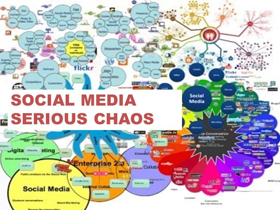 SOCIAL MEDIA SERIOUS CHAOS De hoofdkenmerken van social media zijn: