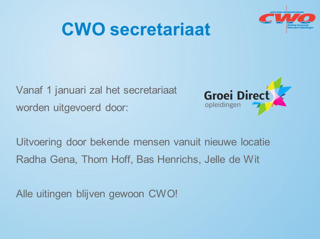 CWO secretariaat Vanaf 1 januari zal het secretariaat