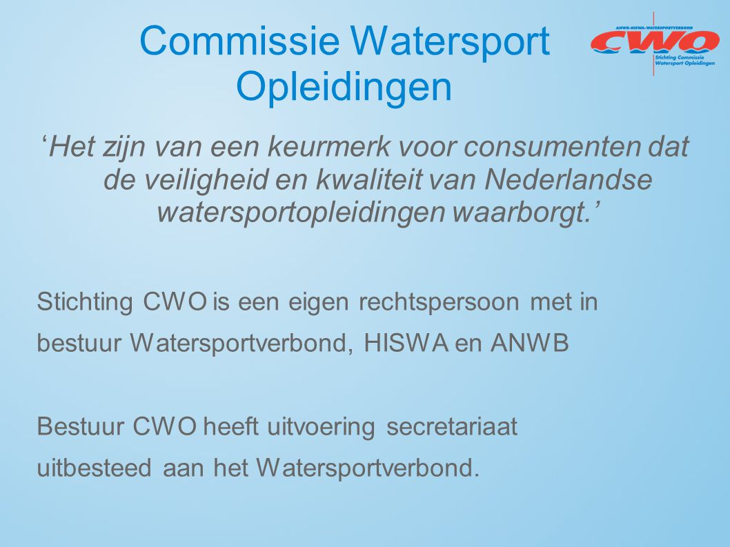 Commissie Watersport Opleidingen
