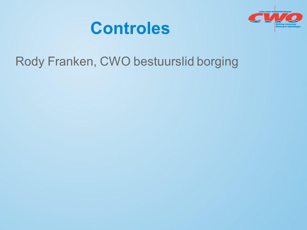 Controles Rody Franken, CWO bestuurslid borging