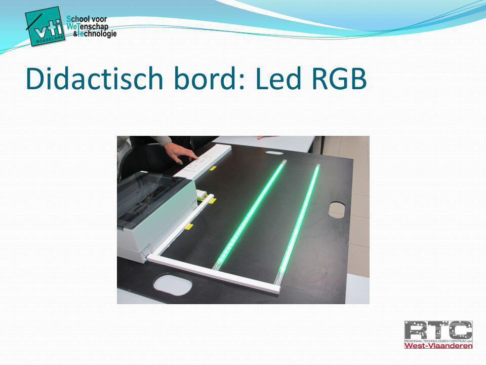 Didactisch bord: Led RGB