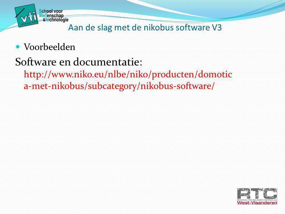 Aan de slag met de nikobus software V3