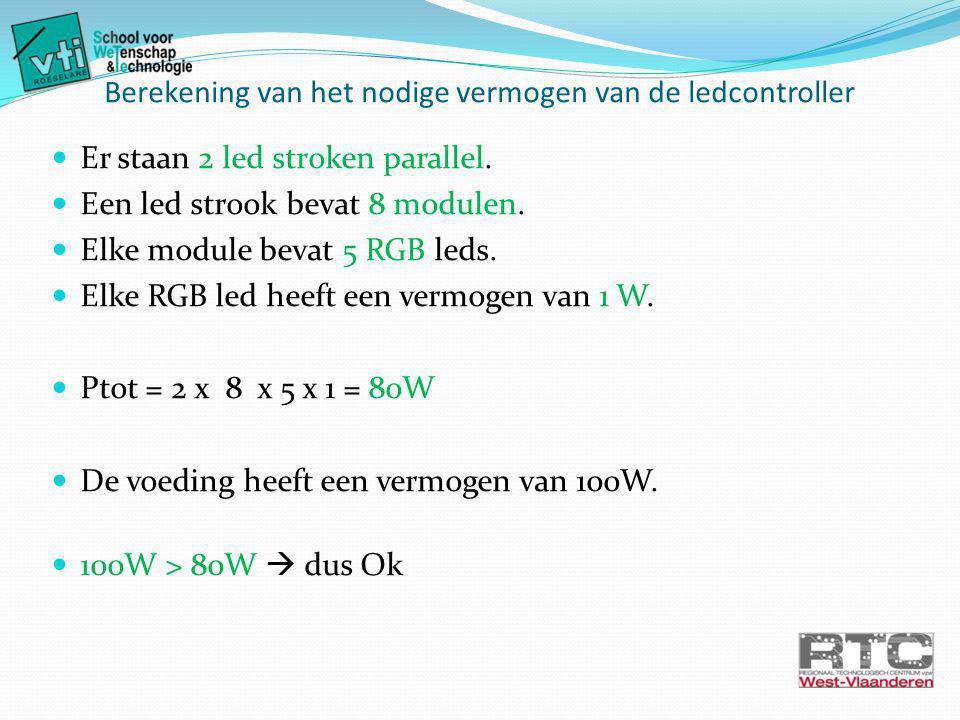 Berekening van het nodige vermogen van de ledcontroller