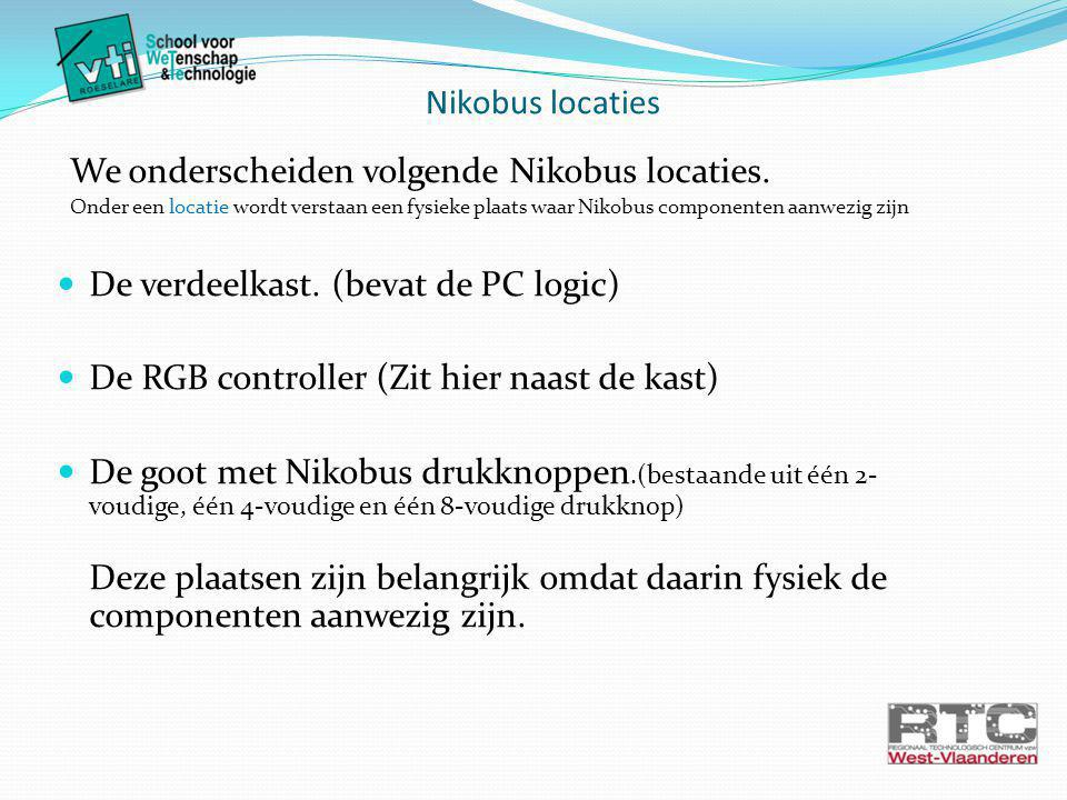 We onderscheiden volgende Nikobus locaties.