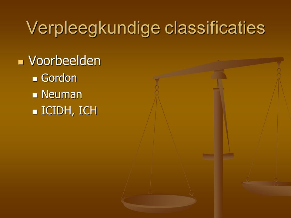 Verpleegkundige classificaties