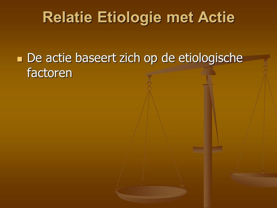 Relatie Etiologie met Actie