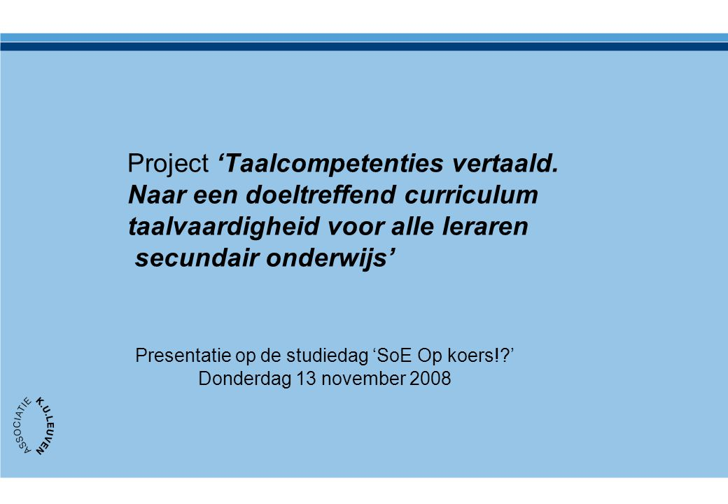 Project 'Taalcompetenties vertaald