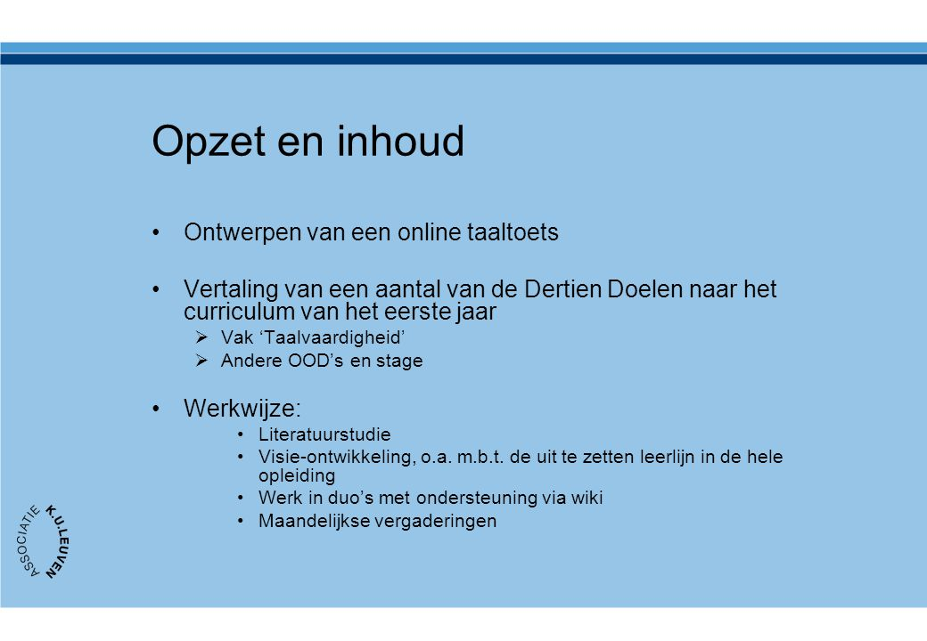 Opzet en inhoud Ontwerpen van een online taaltoets