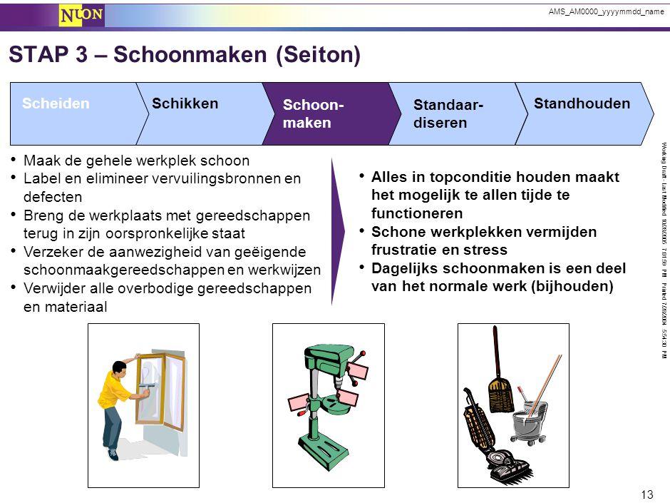 STAP 4 – Standaardiseren (Seiketsu)