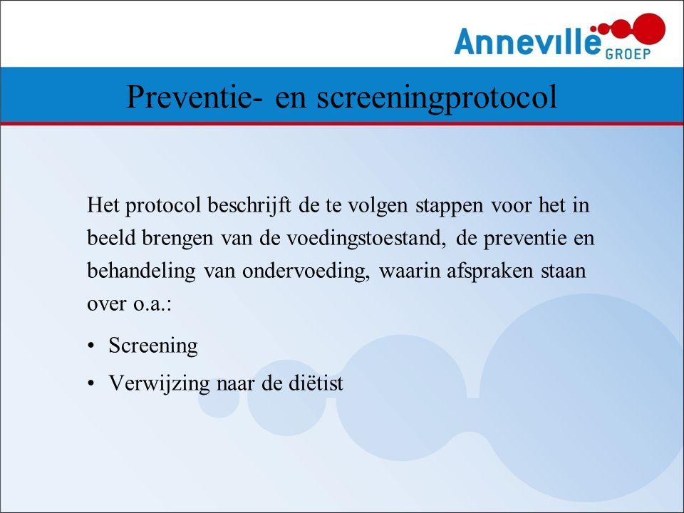 Preventie- en screeningprotocol