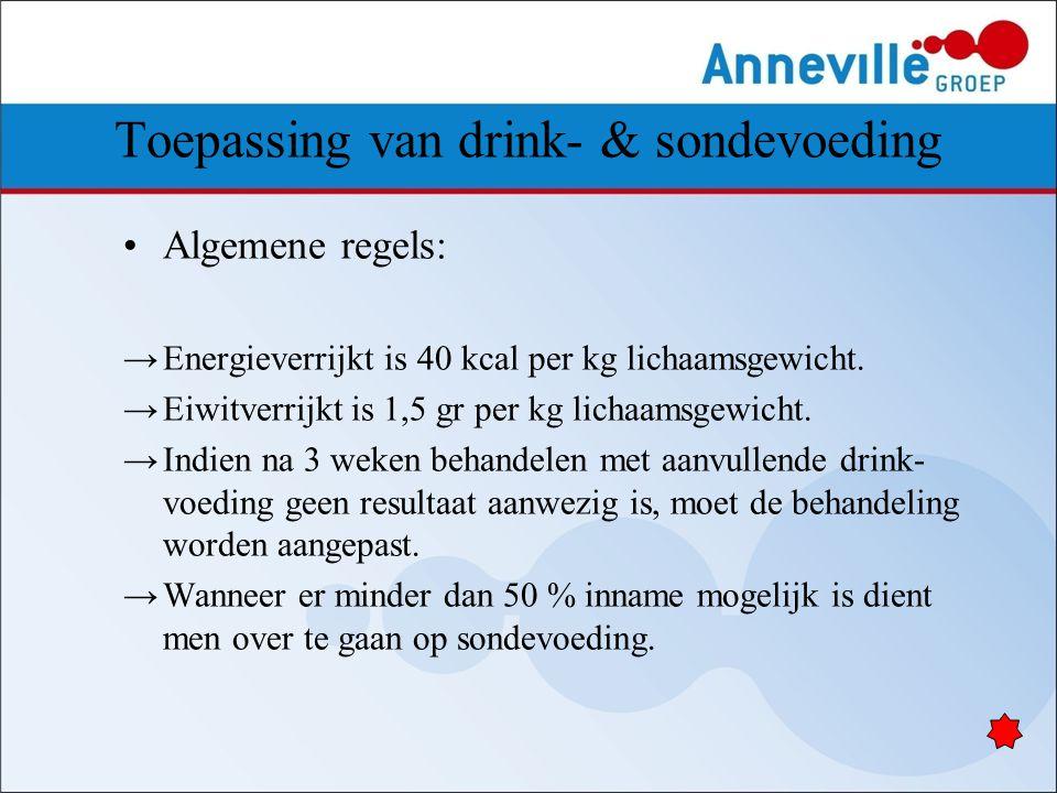 Toepassing van drink- & sondevoeding