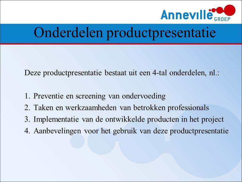 Onderdelen productpresentatie