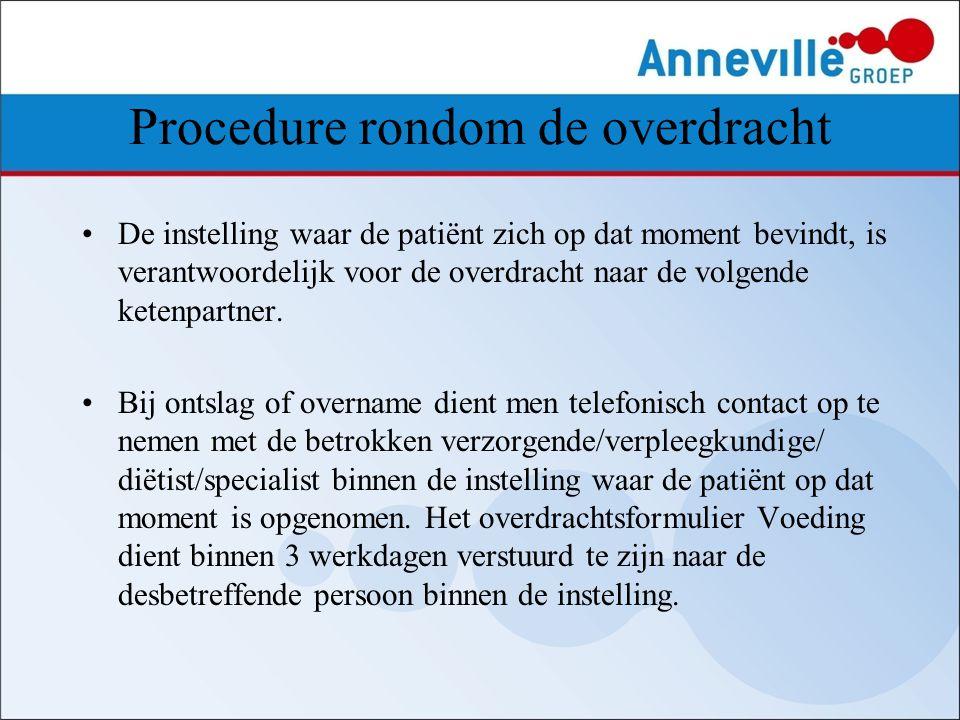 Procedure rondom de overdracht