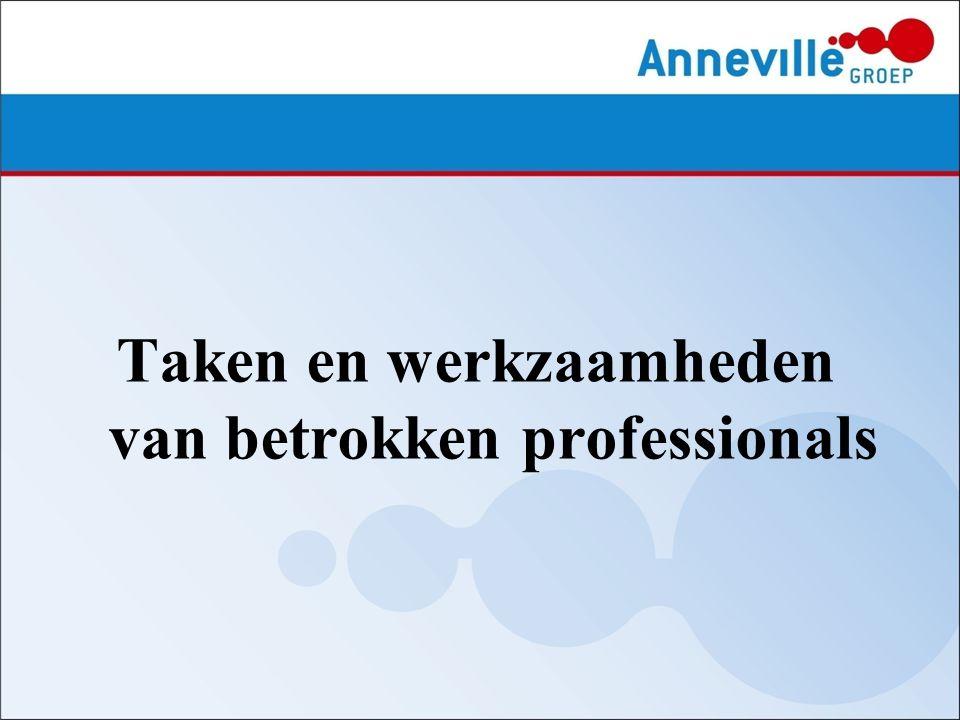 Taken en werkzaamheden van betrokken professionals