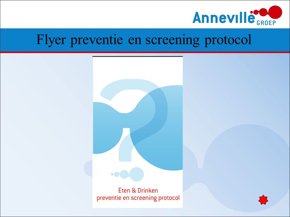 Flyer preventie en screening protocol