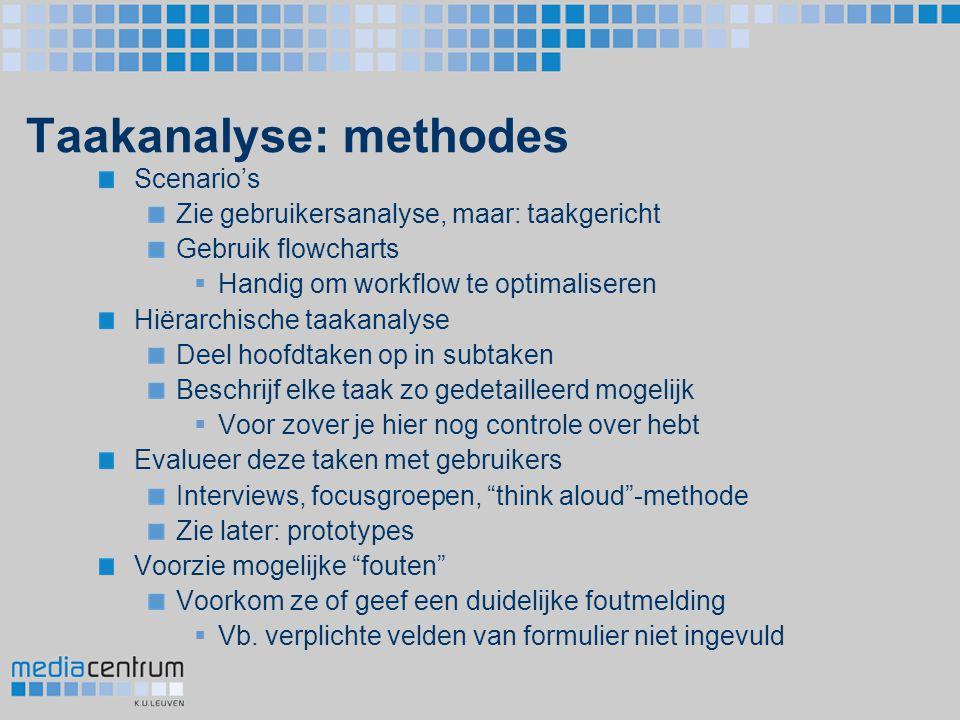 Taakanalyse: methodes