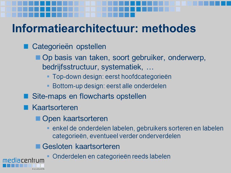 Informatiearchitectuur: methodes
