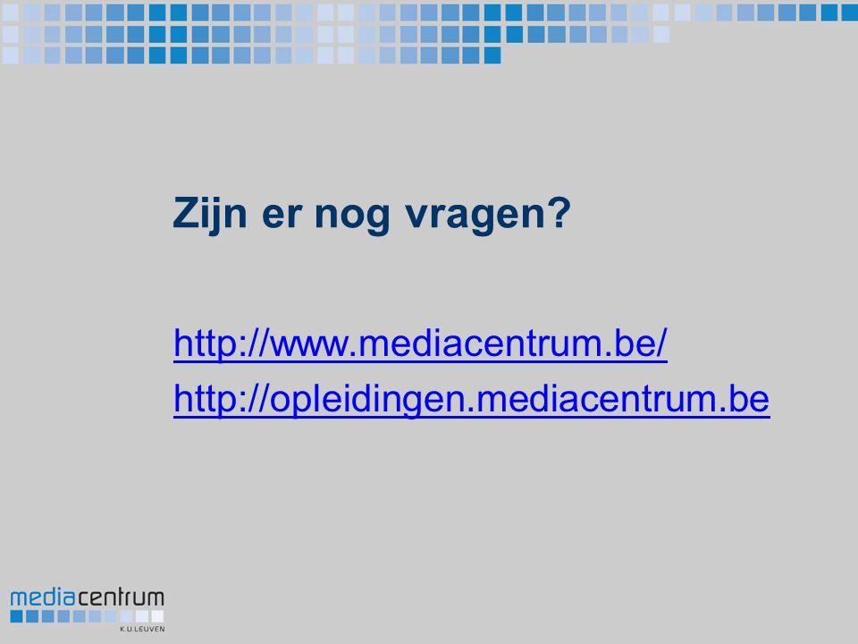 http://www.mediacentrum.be/ http://opleidingen.mediacentrum.be