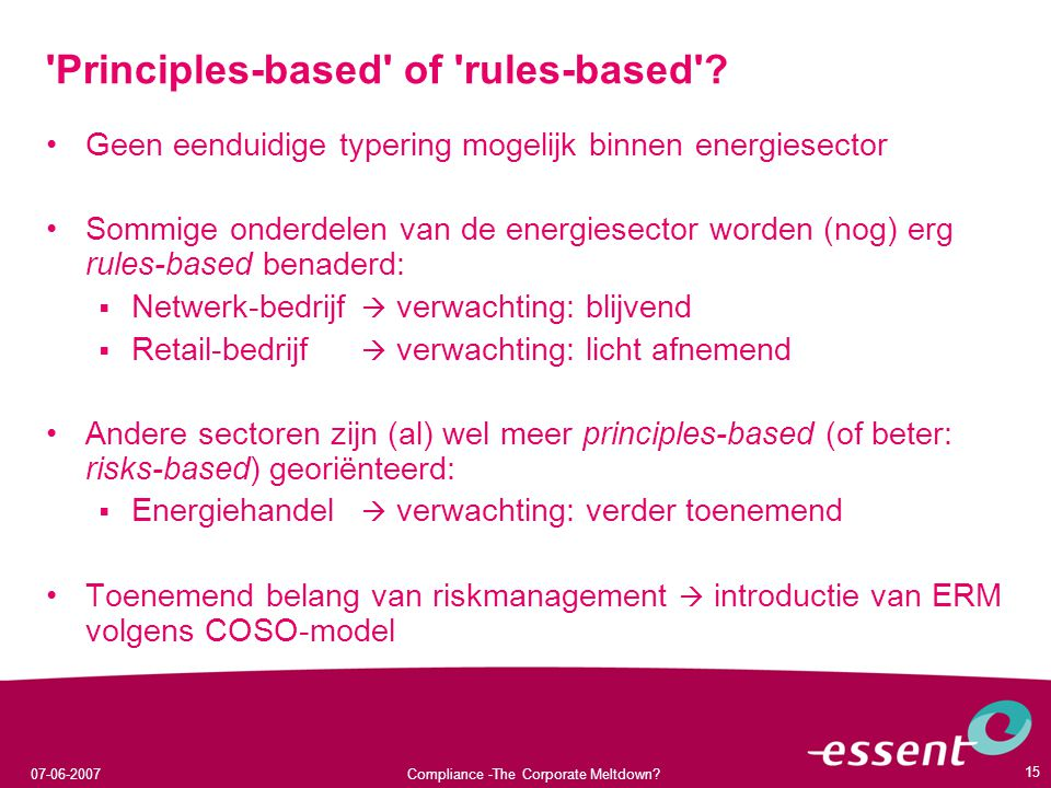 Principles-based of rules-based