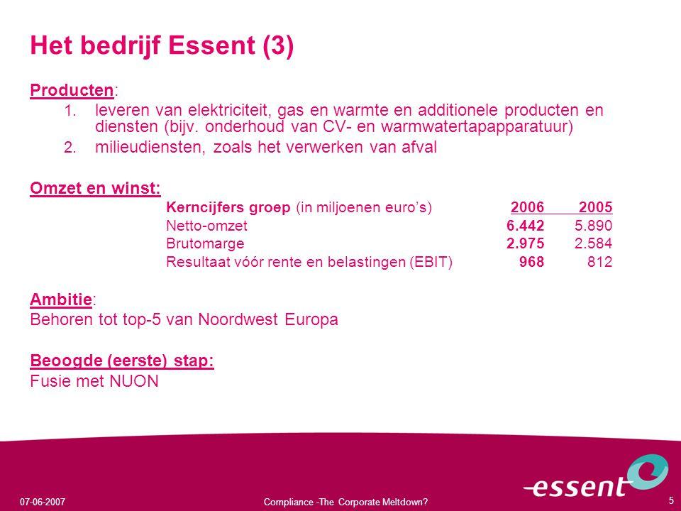 Het bedrijf Essent (3) Producten:
