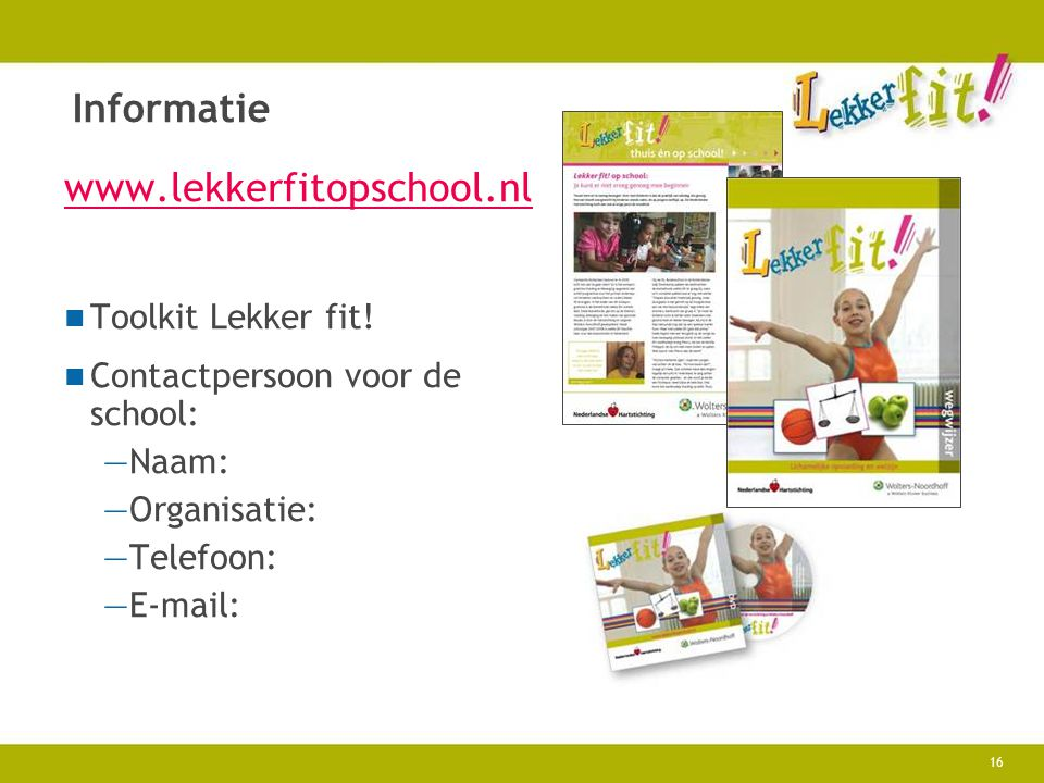 Informatie   Toolkit Lekker fit!