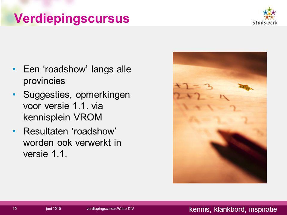 Verdiepingscursus Een 'roadshow' langs alle provincies