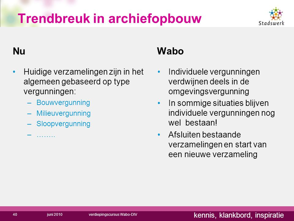 Trendbreuk in archiefopbouw