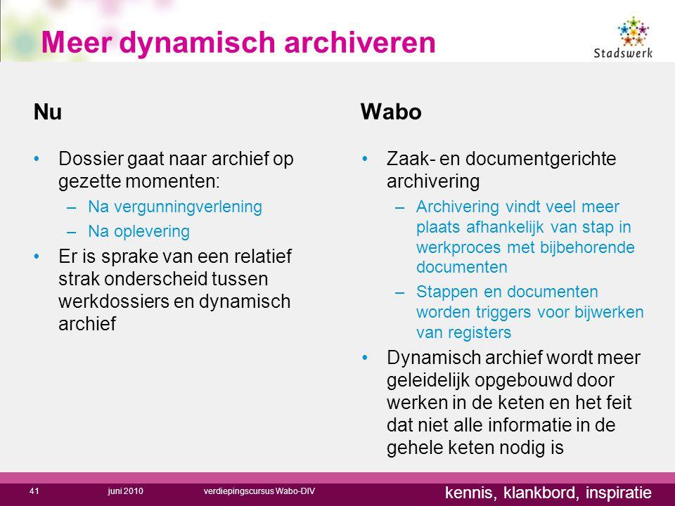 Meer dynamisch archiveren