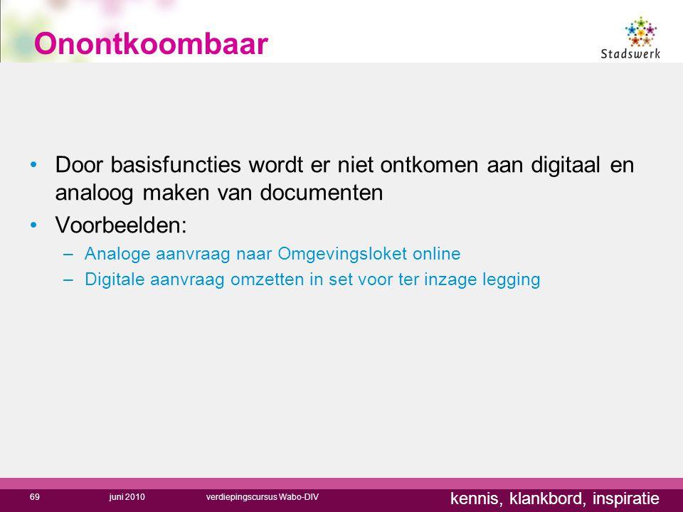 Onontkoombaar Door basisfuncties wordt er niet ontkomen aan digitaal en analoog maken van documenten.