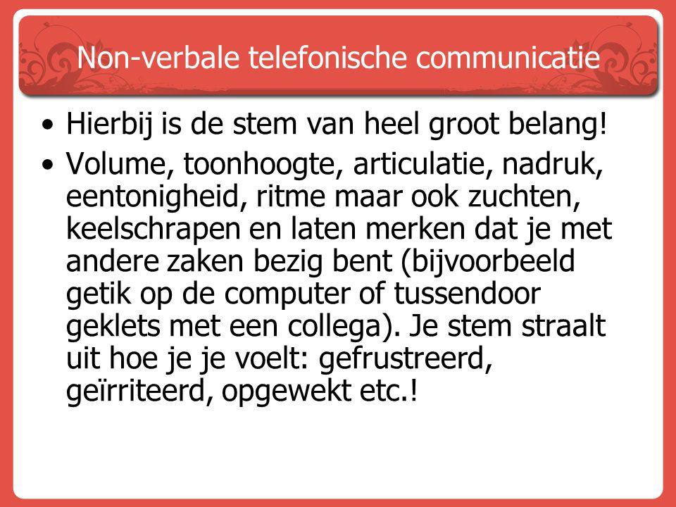 Non-verbale telefonische communicatie
