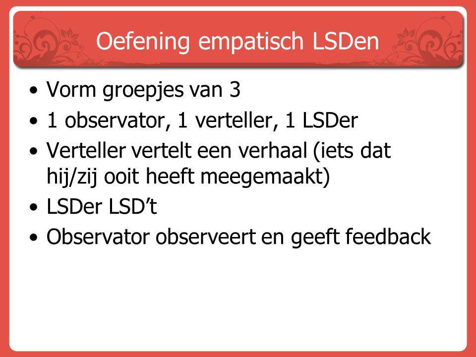 Oefening empatisch LSDen