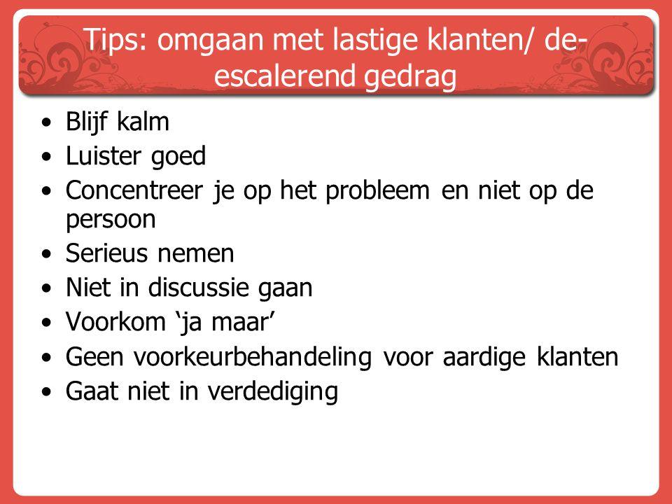Tips: omgaan met lastige klanten/ de-escalerend gedrag