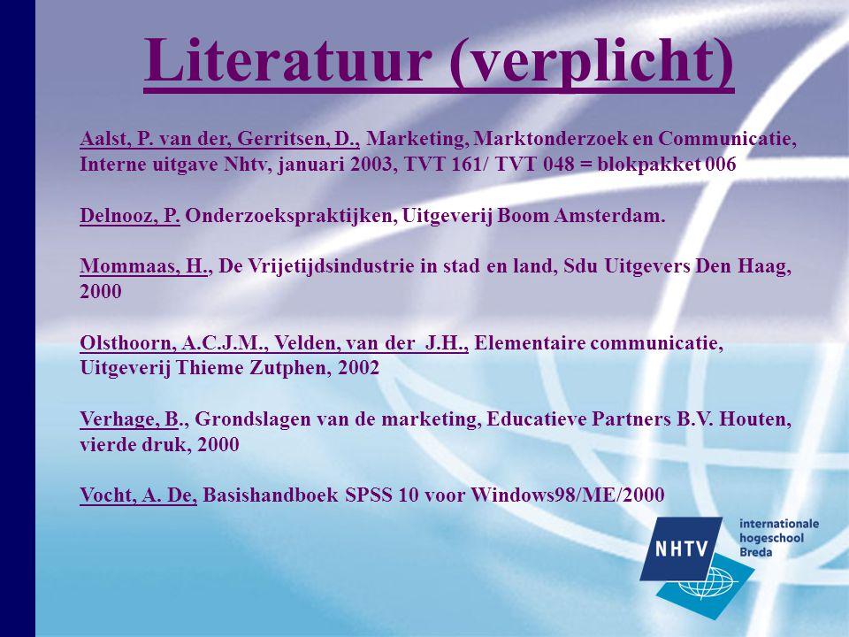 Literatuur (verplicht)