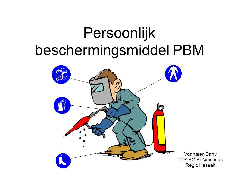 Persoonlijk beschermingsmiddel PBM