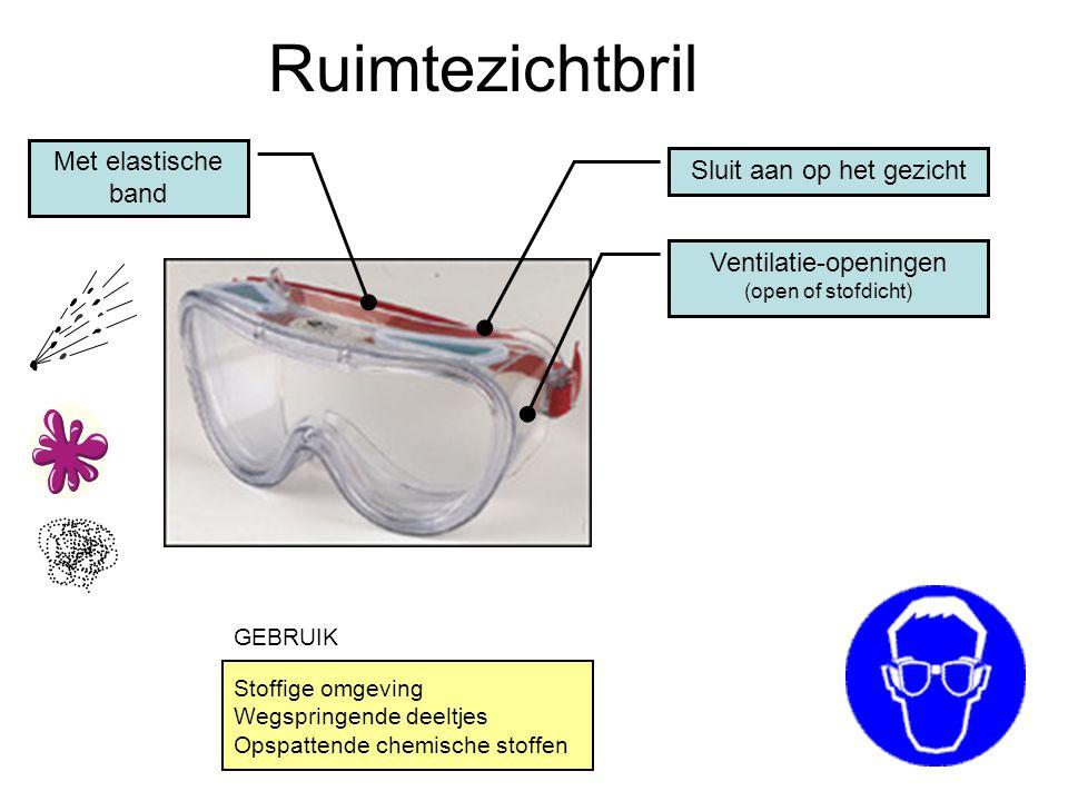 Ruimtezichtbril Met elastische band Sluit aan op het gezicht
