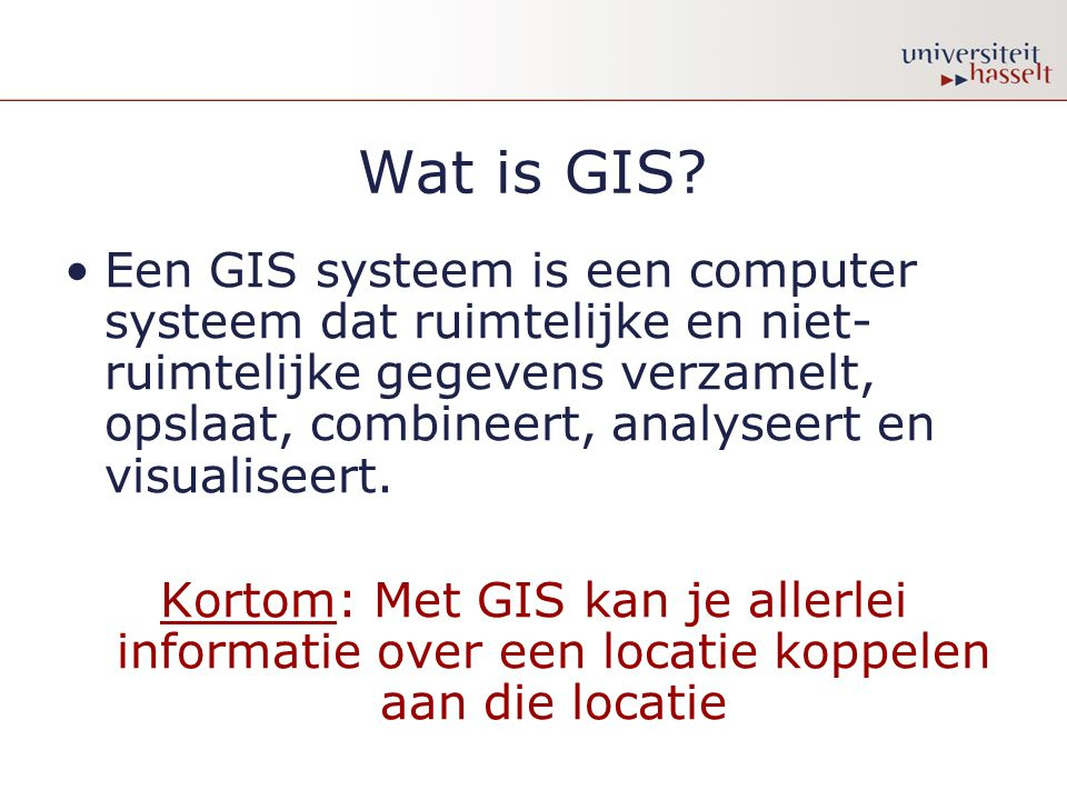 Wat is GIS