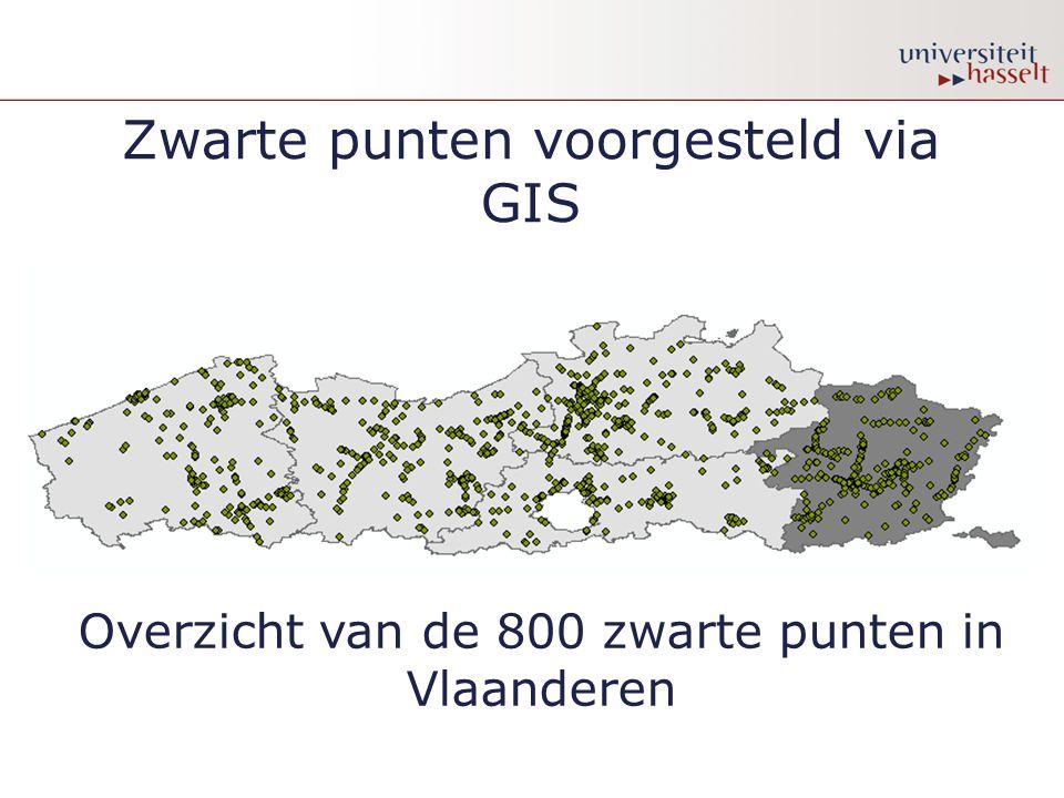Zwarte punten voorgesteld via GIS