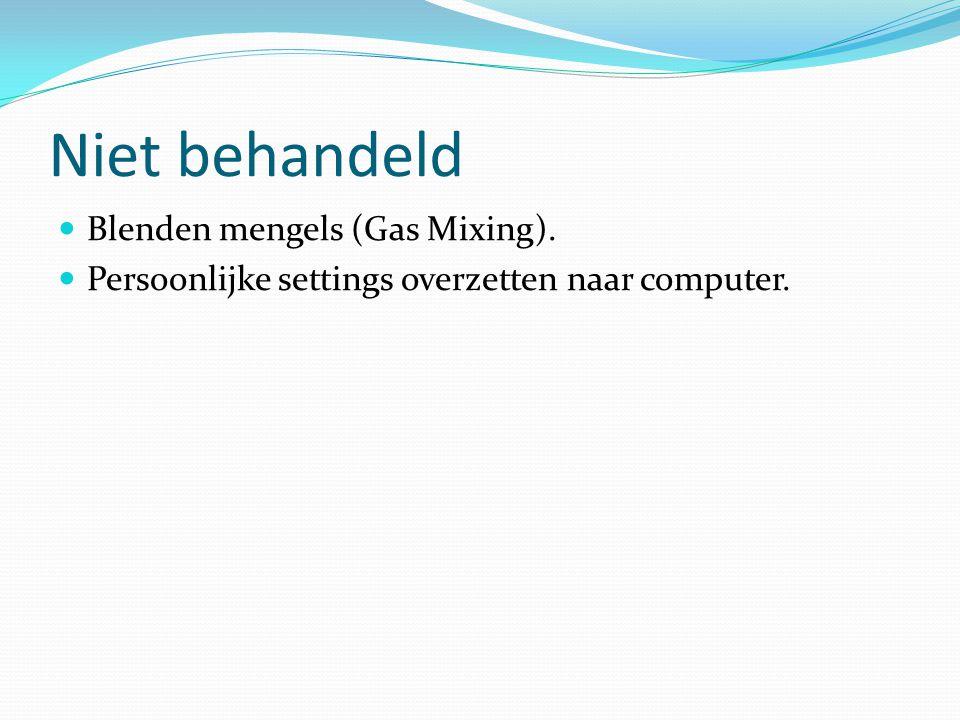 Niet behandeld Blenden mengels (Gas Mixing).