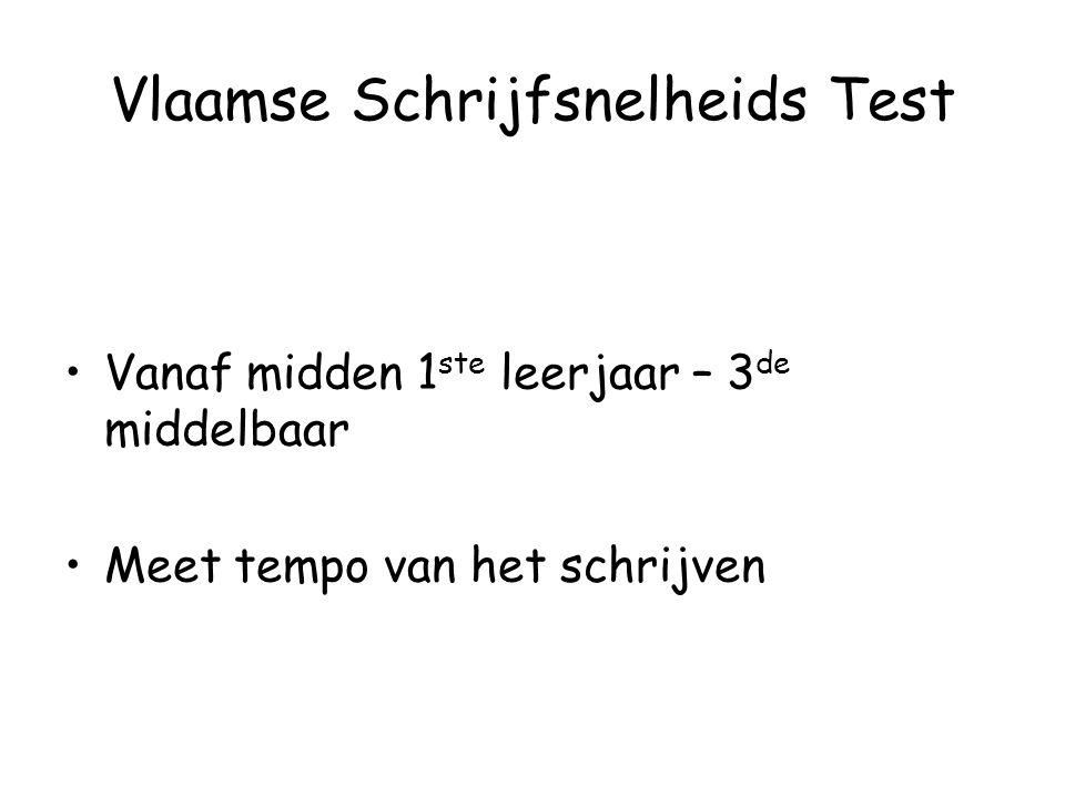 Vlaamse Schrijfsnelheids Test