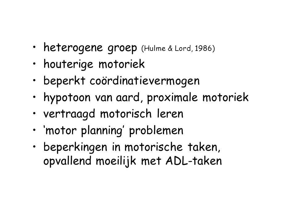heterogene groep (Hulme & Lord, 1986)